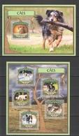 TT059 2016 GUINE GUINEA-BISSAU ANIMALS DOGS 1KB+1BL MNH - Chiens