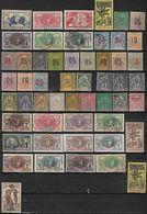 Colonie Lot De 53 Timbres Oblitérés, Neufs Avec Charniére - Guinée, Ets De L'Inde, Ets De L'Océanie, Mauritanie, Et - Timbres