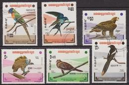 Faune - Oiseaux - KAMPUCHEA - Loriquet, Hirondelle, Aigle, Vautour, Tourterelle, Pie - N° 412 à 417 - 1983 - Kampuchea