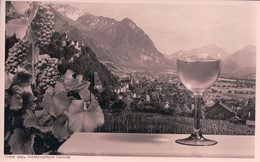 Liechtenstein, Vaduz Geg. Falknisgruppe Calanda, Publicité Pour Le Vin Blanc (1612) - Liechtenstein