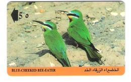 Oman - Blue-Cheeked Bee-Eater - Birds - 7OMNB - Bird - Vogel - Oman