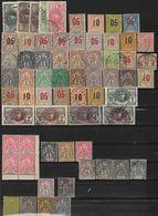 Colonie Lot De 65 Timbres Oblitérés, Neufs Avec Charniére - Dahomey, Côte D'Ivoire, Congo, Benin, Diégo Suarez - Timbres