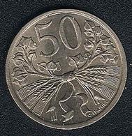 Tschechoslowakei, 50 Haleru 1922, UNC - Tschechoslowakei
