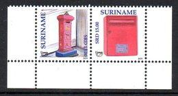 Suriname 2256/57 UPAEP, Boites Aux Lettres - Emissions Communes