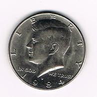 /  U.S.A.  KENNEDY  1/2 DOLLAR  1984 D - Federal Issues