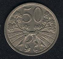 Tschechoslowakei, 50 Haleru 1921, UNC - Tschechoslowakei