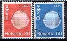 SWITZERLAND # FROM 1970 STAMPWORLD 917-18 - Suisse