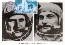 Carte 1er Jour  Soyouz 21    (6-7--1976)-  Boris V. Volynov Vitaly M. Jobolov . - Espace