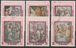 Art, Peinture Italienne - KAMPUCHEA - Tableaux De Raphael - N° 386 à 391 - 1983 - Kampuchea