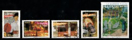 France 2007 : Timbres Yvert & Tellier N° 4096 - 4099 - 4100 - 4102 - 4105 - 4118 Et 4119 Avec Oblitérations Rondes - France