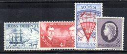 XP4496 - ROSS DEPENDENCY ,  Serie 5-8 Shackleton, HMS Erebus  *** MNH  (2380A) - Ross Dependency (New Zealand)