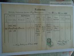 ZA185.16  Old Document Slovakia Bobrovec  Nagy - Bobrócz  - Zilina - 1875 Maria  TOMKO  - Petrus Árvay - Naissance & Baptême