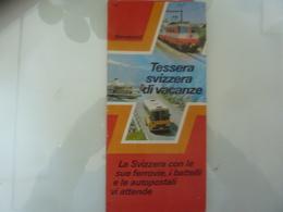 """Mappa Pubblicitaria FFS """"LA SVIZZERA Con Le Sue Ferrovie, I Battelli E Le Autopiste Vi Attende"""" 1982 - Carte Geographique"""