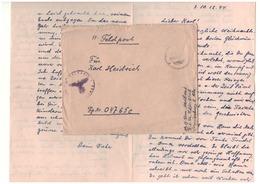 SS Feldpost - Kommandantur KZ KL Sachsenhausen - 1944 - Storia Postale