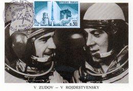 Carte 1er Jour  Soyouz 23    (14-10--1976)-  V. D. Zudov V.i.rojdestvensky. - Espace