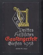 Dt-. Reich PK Giessen Gausängerfest 1938 - Giessen
