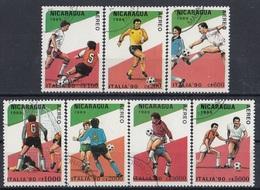 NICARAGUA 2934-2940,used,football - World Cup