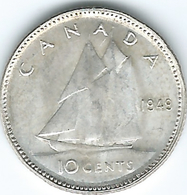 Canada - George VI - 10 Cents - 1949 (KM43) - Canada