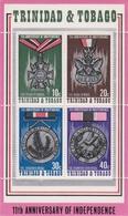 Trinidad And Tobago 11th Anniversary Of Independence, Miniature Sheet MNH - Trinidad & Tobago (1962-...)