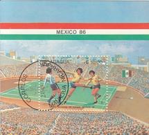 NICARAGUA Block 162,used,football - World Cup