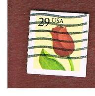 STATI UNITI (U.S.A.) - SG 2566 -    1991 TULIP 29 (ROULETTED, IMPERFORATED)  - USED - Verenigde Staten