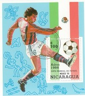 NICARAGUA Block 167,used,football - World Cup