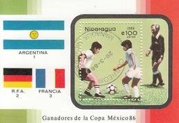 NICARAGUA Block 171,used,football - World Cup
