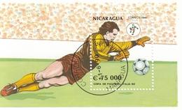 NICARAGUA Block 190,used,football - World Cup