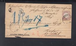 Dt. Reich Auslagen-Brief 1873 Hochheim - Germania