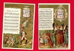 Lot De 2 Chromos Liebig S_152 Chansons, Fanfan La Tulipe Et La Fille De Mme Angot - Liebig