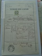 ZA185.19 Old Document Poland Łężyny -  Jasło  - 1871 - Andreas MACHOW  (Gatuszka) -Joannes Morawski Curatus - Naissance & Baptême