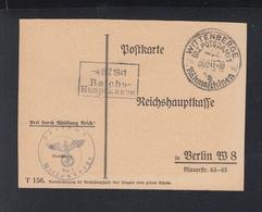 Dt. Reich Postkarte Wittenberge 1941 Nach Berlin - Briefe U. Dokumente
