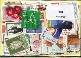 Lot 100 Timbres Norvege - Vrac (max 999 Timbres)