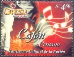 "Peru 2003 ** Patrimonio Cultural. Instrumento Musical ""cajon"". See Desc. - Pérou"