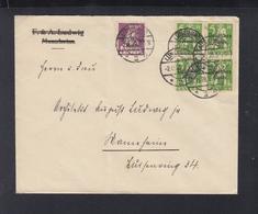 Dt. Reich Brief Aufdrucke Auf Bayern 1920 Lüneburg Nach Mannheim - Briefe U. Dokumente