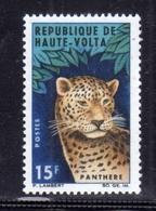 ALTO VOLTA HAUTE VOLTA UPPER VOLTA BURKINA FASO 1966 FAUNA ANIMALS ANIMAUS ANIMALI LEOPARD LEOPARDO 15fr MNH - Alto Volta (1958-1984)