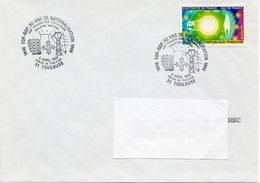 """TOULOUSE (HAUTE GARONNE) : EDF-GDF Oblitération Temporaire 1996 """"50 Ans De Nationalisation"""" Timbre CONCORDANT - Usines & Industries"""