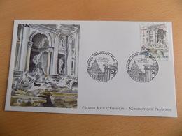 FDC France : Rome, Fontaine De Trévi - Paris 07/11/2002 - FDC