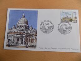 FDC France : Rome, Basilique Saint Pierre - Paris 07/11/2002 - FDC