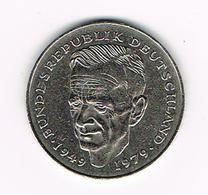 / DUITSLAND 2 MARK 1981 J  DR.  KURT  SCHUMACHER - [ 7] 1949-… : RFA - Rép. Féd. D'Allemagne