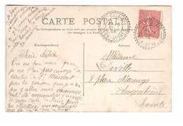 Cachet Facteur Boitier St Saint Gelais Deux Sevres 1905 Sur Cpa Niort Avenue Bujault - Storia Postale