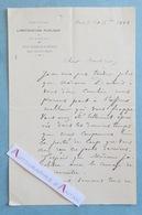 L.A.S 1888 Paul DUBOIS Sculpteur Peintre Statue JEANNE D'ARC Jacobsen Georges Petit Nogent-sur-Seine Lettre Autographe - Autographes
