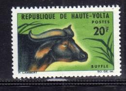 ALTO VOLTA HAUTE VOLTA UPPER VOLTA BURKINA FASO 1966 FAUNA ANIMALS ANIMAUS ANIMALI BUFFALO BUFFLE BUFALO 20fr MNH - Alto Volta (1958-1984)