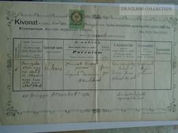 ZA187.1  Old Document  Slovakia Privigye Prievidza, - Lukács NEMCSEK  1874 - Naissance & Baptême