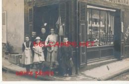 COMMERCE // CARTE PHOTO / DEVANTURE DE MERCERIE / ANIMEE - Commerce
