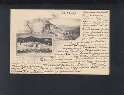Schweiz AK 1897 Feydey Leysin 1897 Nach USA - VD Vaud