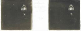Plaque De Verre Stéréoscopique Positive - Année 1945 - Moret Sur Loing - Intérieur De L'Église - Plaques De Verre