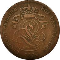 Monnaie, Belgique, Leopold I, 2 Centimes, 1856, TB, Cuivre, KM:4.2 - 1831-1865: Léopold I