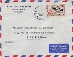 REUNION :  Canöé  314 Sur Lettre à Entête Banque De La Réunion Oblitération De Saint-Denis - Covers & Documents