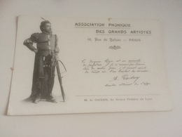 BQ - 1700 - ASSOCIATION PHONIQUE DES  GRANDS ARTISTES - M.A. GAIDAN , Du Grand Théâte De Lyon - Tir à L'Arc